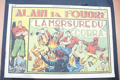 Bd-Alain La Foudre Format 27 X 18,5 Cm -1947 - N°29 -Tbe ! Collection Victoire