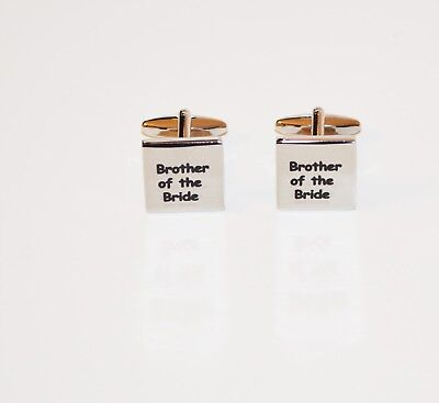 Brother Of The Bride Square Cufflinks