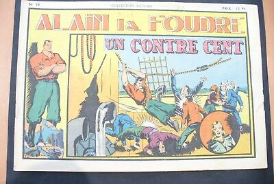Bd-Alain La Foudre Format 27 X 18,5 Cm -1947 - N°39 -Tbe ! Collection Victoire