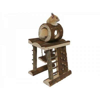 Rosewood Wooden Activity Centre Climbing Tower Small Pets Gerbils Mice Hamster