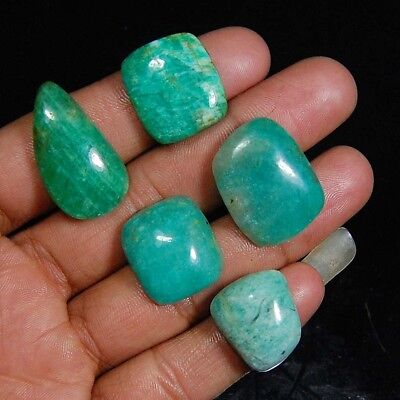 95.00 Cts Aaa 100% Natural Fine Quality Green Amazonite Loose Gemstone Lot 5 Pc