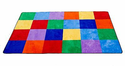 "Learning Carpets Colorful Grid Rug, Large/8'5"" x 11'9"""