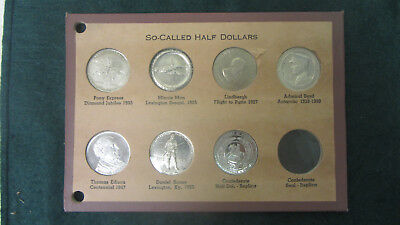 Set Of 7 So-Called Half Dollars-Nice Mix In Holder-Cool Collectible