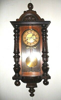 Vienna Wall clock Hamburg America HAC Clock Chimes on the hour in good condition