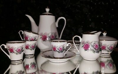Vintage Porcelain Authentic China Tea Set Asian Demitasse 15 pieces RARE STAMP
