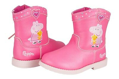 Peppa Pig Pink Western Cowboy Boot Toddler Size 6 NWT