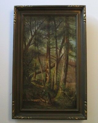 Gorgeous Antique Landscape Painting 19Th To 20Th Century Wooded American Signed