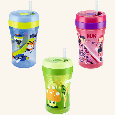 NUK Easy Learning Cup Fun 300ml mit Trinkhalm ab 18. Monat / div. Motive