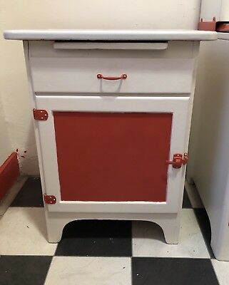 Vintage Painted Hoosier Style Kitchen Cabinet