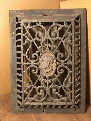 Antique Cast Iron  Dome Heat Grate ~ Vintage Heat Vent / Wall Register