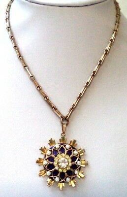 """Stunning Vintage Estate Signed Coro Faux Pearl Flower 19"""" Necklace!!! 8612N"""