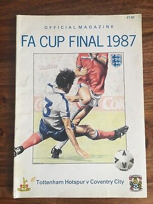 Tottenham Hotspur v Coventry city FA Cup Final 1987 official magazine