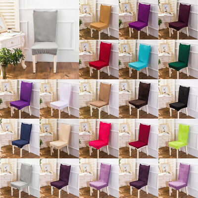 Dining Room Banquet Chair Cover Stretch Seat Slipcover Protector Wedding Decor