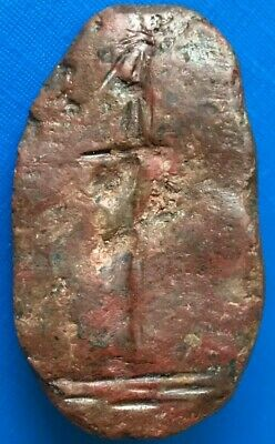 ANCIENT ROMAN GEM STAMP SEAL DEPICTING ENGRAVED SW0RD 2 - 4th CENTURY AD - D543