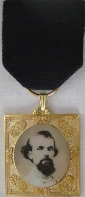Nathan Bedford Forrest Remembrance Civil War Medal w/ 3 Medal Drapes