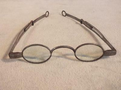 Early Steel Spectacles Ca 1820 - Pin In Slot Eyeglasses
