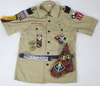 LOT of Boy Scouts BSA Mixed Vintage Webelos, Cub, Pins, Patches, Shirt & Badges