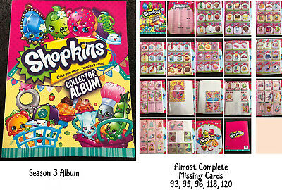 Shopkins Album Season 3 Nearly Complete Album Missing 4 Cards