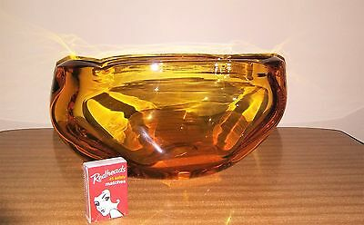 Whitefriars Amber Glass Bowl Vase
