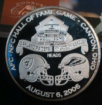 Philadelphia Eagles Silver Proof Coin( RARE ) READ DETAILS (  PRICE TODAY ONLY )