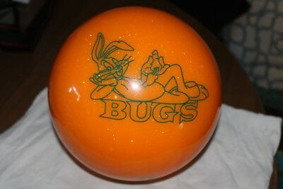 Vintage Collector Orange  Bugs Bunny 12Lb Undrilled Bowling Ball