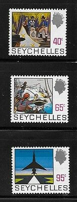Seychelles 1969-72 QE Def Pirates Jet and Airport MNH A59