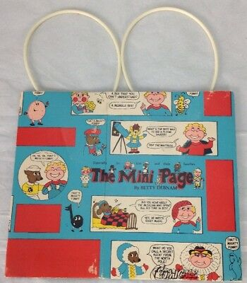 Vintage The Mini Page Comic Book Strips Funnies Bag