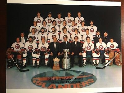 New York Islanders Stanley Cup Champions Team Picture 1980-81 8x10