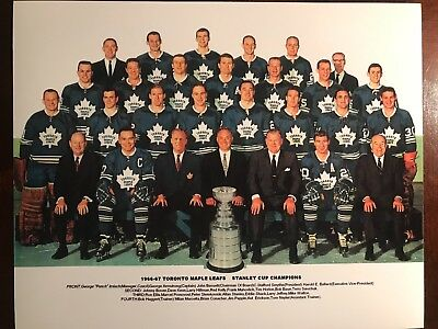 Toronto Maple Leafs Stanley Cup Champions Team Picture 1966-67 8x10