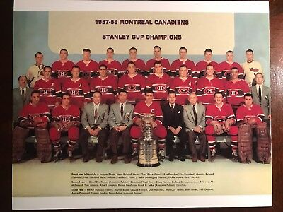 Montreal Canadiens Stanley Cup Champions Team Picture 1957-58 8x10