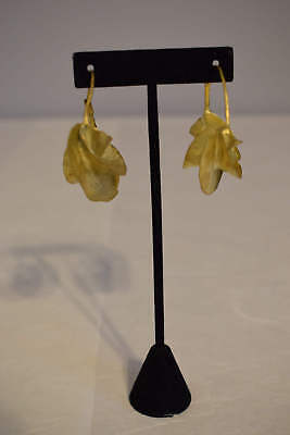 Earrings African Fulani Vintage Brushed Gold Brass Fulani Women Earrings