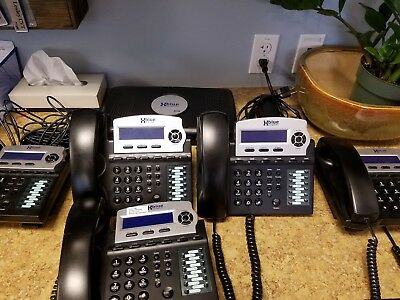 XBlue X16 System Bundle with (5) Phones - Good Condition
