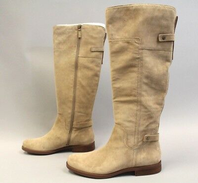 dbf4d60cfd3 Franco Sarto A-Coley Knee High Boots Sandstone Suede MM1 Women s Size 11M