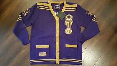Omega Psi Phi Cardigan Sweater Purple Q Dog Heavy Weight Cardigan