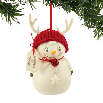 Department 56 Snowpinions Wanna-Be Reindeer Snowman Ornament 4051448D DEFECT
