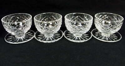 Lot 4 Waterford Crystal Alana Footed Dessert Bowls Dishes Glasses Set