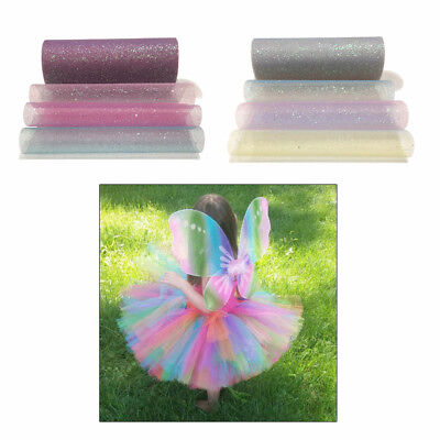 15cm Rainbow Glitter Tulle Roll Sequin DIY Princess Tutu Skirt Wedding Decor