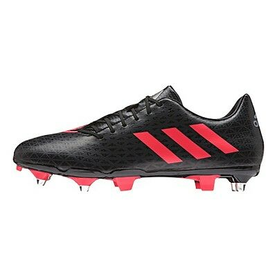 Adidas AW16 Malice Elite SG Rugby Boots - Black/Shock Red - Black/Red - UK 7