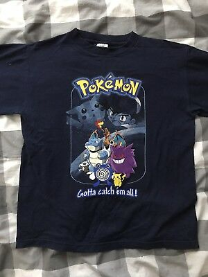 Pokemon Original Youth Large Tshirt Vintage 90's