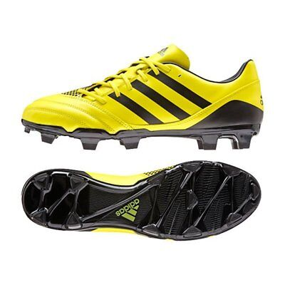 Adidas AW15 Incurza FG Rugby Boots - Yellow/Black - Yellow/Black - UK 9