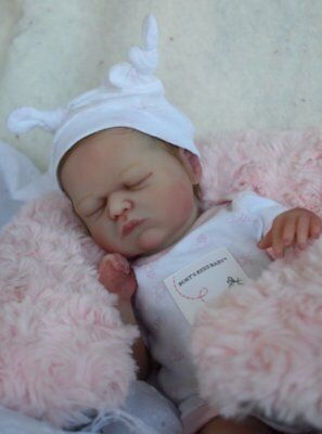 """""""Isa"""" #8 of LE of 20 or less full body's micro preemie solid silicone Baby doll"""