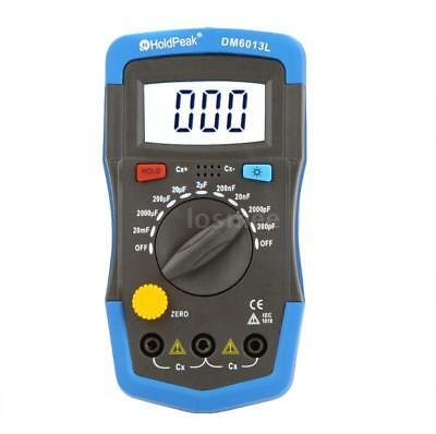 Portable Digital Capacitance Meter Capacitor Tester Measure Tool LCD Backlight