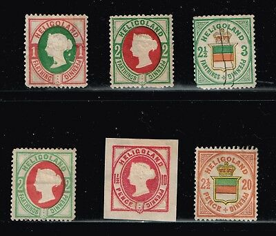 Uk Stamp Heligoland Stamps Collection Lot -2