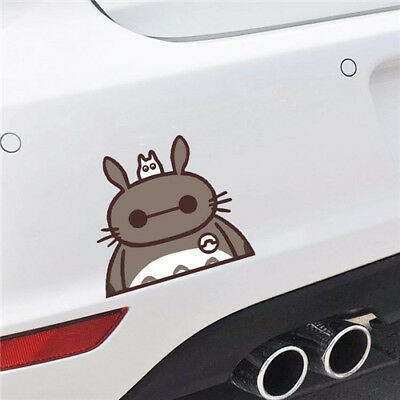 Totoro in Baymax Car Stickers Funny My Neighbor Body Window Wall Decals QP222