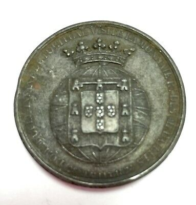 1824 Dom Miguel Infant Portugal Medal. Castcopy from 1800s. 41 mm diameter.