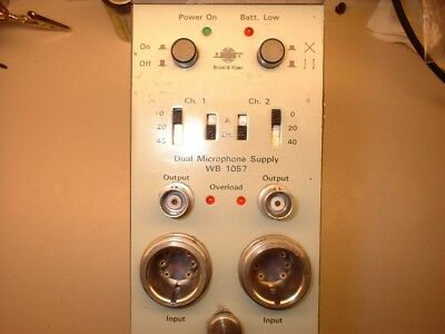 Bruel and Kjaer type 1057 (similar to 5935) dual channel microphone amplifier