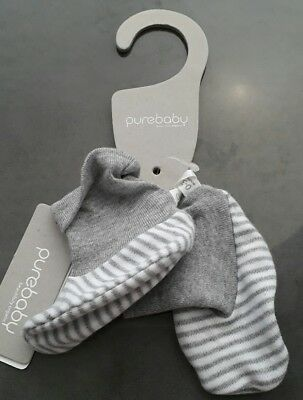 Purebaby booties size S/M 0-3months
