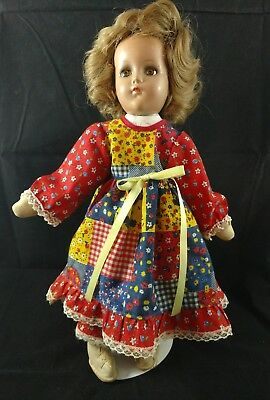 """Vintage R&B doll 14"""" Composition and Cloth"""