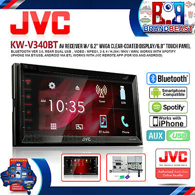Jvc KW-V340BT 6.8 Car Stereo Dvd Bluetooth Usb Iphone App Mode Iphone Android