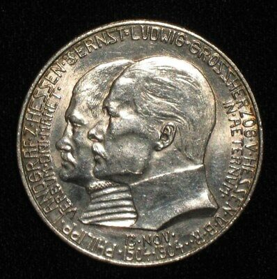 1904, 2 Mark from Hesse-Darmstadt, Germany.  No Reserve!